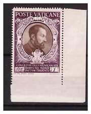 VATICANO 1946 - CONCILIO TRENTO  1 LIRA  NON  DENT. IN BASSO  NUOVO **
