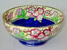 "MALING ""MAY BLOOM"" Large 8.25"" Lustre Hand Painted Ceramic Centerpiece Bowl"