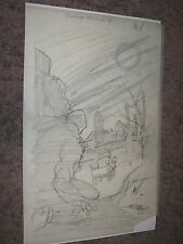 SWAMP THING #4 Original Prelim Art Page #4 by Bernie Wrightson ~SPLASH/1973