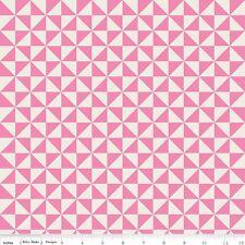 Teddy Bear Picnic Pinwheel Melly & Me Riley Blake Designs Fabric C6054 Pink