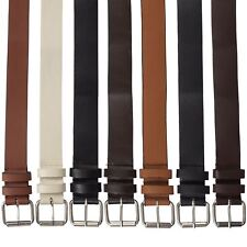 Kruze New Mens PU Leather Belts Buckle Belt For Jeans Big Tall King Sizes