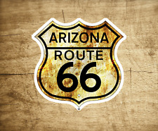 "Route 66 Arizona Vintage Travel Sticker Decal 3"" Rusted Laptop Bumper"