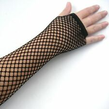 Lady Dance Disco Fingerless Goth Fishnet Lace Gloves Mesh