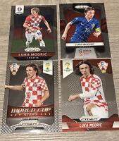 Luka Modric Croatia Panini Prizm World Cup Stars  2014 Euro 16 18 4 Card Set