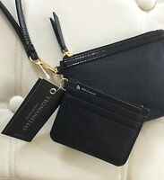 Tignanello Pebble Leather Wristlet & Card Holder RFID Protection - BLACK