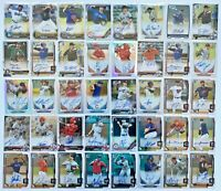 (40) Bowman Chrome 1st Autograph Rookie Refractor Prospect Auto RC Lot SP /499