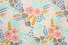 FREE AU SHIP, Cloud 9,Organic Cotton Fabric, Floral, Wildflowers, QUILTING FQ