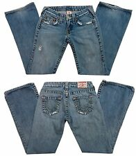 Size 26 X 31 SEXY Womens *TRUE RELIGION* BOBBY JEANS Distressed Flare Vintage