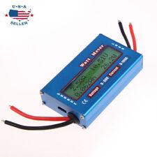 Simple DC Power Analyser Watt Volt Amp Meter 12V 24V Solar Wind Analyzer Ammeter
