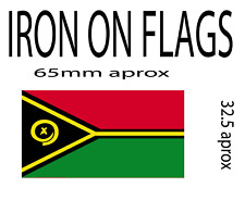 iron on flag x 2 of vanuatu patch (other countries available)