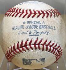JOC PEDERSON CAREER HIT #77 ROOKIE SEASON GAME-USED MLB BASEBALL DODGERS 7/20/15
