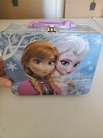 frozen disney authentic tin lunch box carrying case ship fast