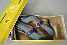 Vintage 50's Johansen ettes flannel leather pumps shoes 7.5 N original box
