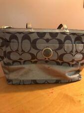 Coach Signature Stripe Multi functional Diaper Baby Bag/Tote Bp1