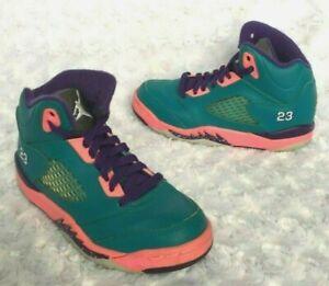 Nike Jordan Little Girls Retro Sneakers Shoes-Teal/Purple/Pink  (Size 11)