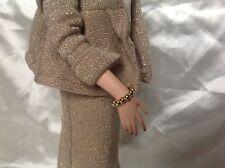 Barbie Schmuck, Armband Perlen gold für Vintage/ Silkstone Puppen