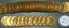 1945-S SOLID BU WHEAT CENT ROLL! SUPER NICE CLEAN ROLL! NICE STRIKES & DETAILS!