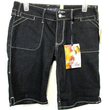 FADE to BLUE Dark BLUE JEAN SHORTS Comfort Stretch Womens Size 6  - NWT