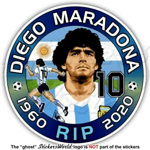 "DIEGO MARADONA RIP 100mm(4"") Vinyl Sticker Decal Aufkleber Adesivo Autocollant"