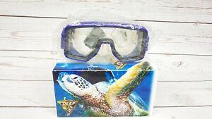 Deep See Dive Mask TEMPERED Glass Silicone Goggles Scuba Snorkel - Purple