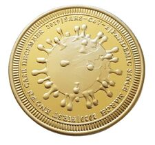 Corona-Gedenkmünze 40mm, Münze, 2021, Limitiert, Pandemie,Bitcoin, Kupfer, Gold