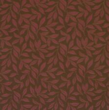 Elegant Brown Ruby Red Floral Leaf Botanical Crypton Upholstery Fabric 0401812