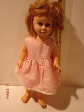 VINTAGE MATTEL CHATTY CATHY DOLL FRECKLES BLUE EYES LASHES BLONDE HAIR