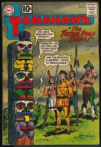 TOMAHAWK No. 76 1961 DC Western Comic Book The TOTEM POLE TRIAL!  4.0 VG