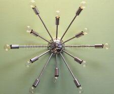 mid round sputnik wall sconce chrome finish,light fixture 12 Light