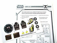 STICKERS for STAR WARS The Clone Wars 2008 AT-TE ATTE 'Die Cut!' + BONUS