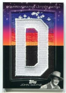 2011 American Pie Hollywood Sign Letter Patches 19 John Wayne Letter Patch 24/25