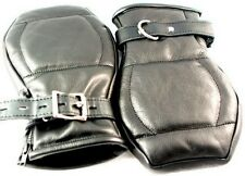 Leather Deluxe Fist Mitts Gloves  Restraint 6103 A