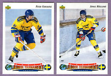 1992-93 Upper Deck Team Sweden World Junior Tournament Team Set