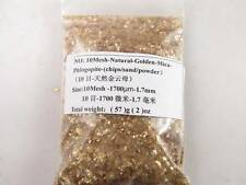 10Mesh Natural Mineral Golden Mica Phlogopite Chips Specimen Crystal Healing 2OZ