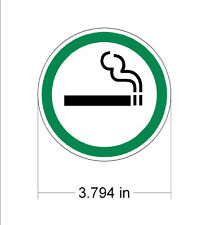 Smoking Permitted Allowed decal sticker sign