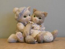 "Calico Kittens Boy & Girl with Heart ""The Purr-fect Love"" #C17/836 Approx. 3"""