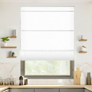 NEW Chicology Cordless Light Filtering Magnetic Roman Shade - Runaway White