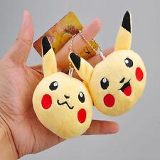 7CM Pokemon PIKACHU Evolution Squirtle Keychain Plush Toy Keyring Gift