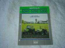Deutz-Allis 6240 6250 6260  tractor brochure