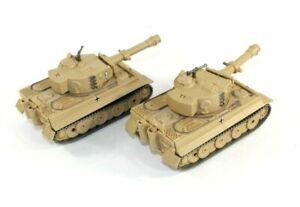 """2 Vintage 1998 Hard Plastic Toy Military German Tanks Moving Turret on Wheels 7"""""""