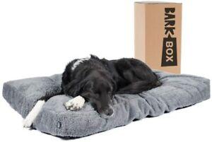 Barkbox Memory Foam Plush Dog Bed Mattress (Chipped Memory Foam, X Large, Grey)