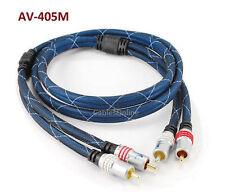 5ft Premium 2-RCA to 2-RCA M/M Audio Cable w/ Blue Mesh Jacket, Manhattan 317542