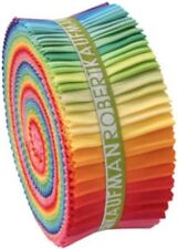 "Kaufman Kona Cotton Bright Palette Jelly Roll Up 2.5"" Fabric Strips RU-231-41"