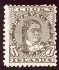 Cook Islands 1893 QV 1d brown MLH. SG 5. Sc 9.