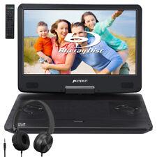 "14""Full HD Portable Blu-ray DVD Player Monitor HDMI USB/SD Dolby Battery+Headset"