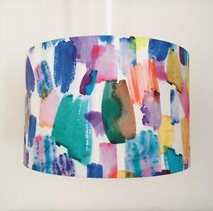 Beautifully Handmade Drum Lampshade In Lady McElroy 'Artisan Splash'