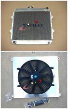aluminum Radiator+shroud+FAN for TOYOTA HILUX RN85 YN85 22R 2.4L Petrol 91-97 MT