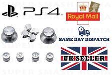 I pulsanti in metallo argento set per PS4 CONTROLLER DUALSHOCK 4 Sostitutivo Mod-NUOVO