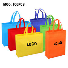 Custom Logo MOQ 100pcs Eco-friendly Resuable Non-woven Shopping Bag