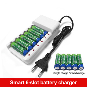 ONLY CHARGER 6 Slots Batteries AA / AAA Ni-MH / Ni-Cd Batteries Rechargeable